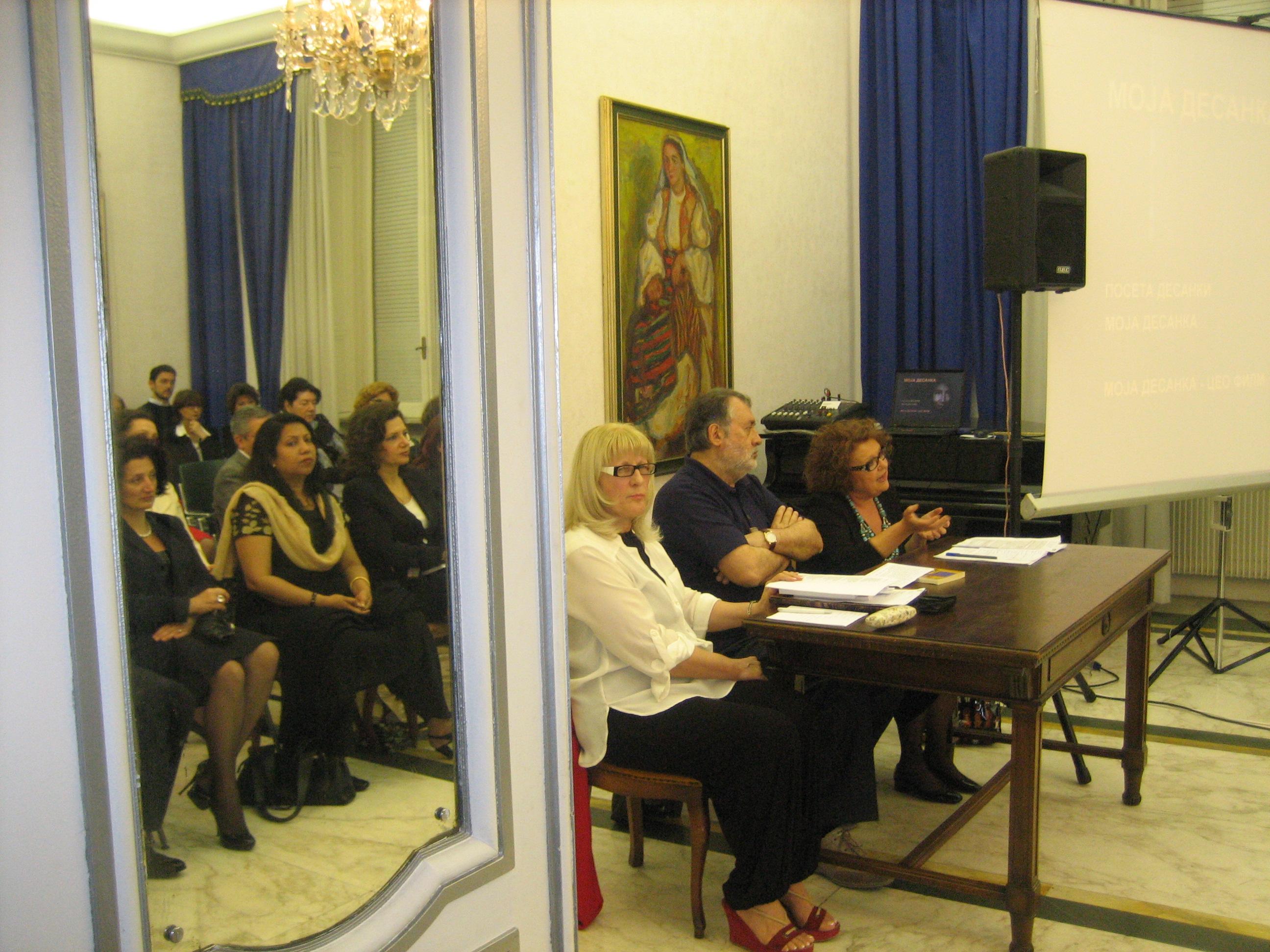 Roma: ambasciata serba con Duska Wrhovac e Carlo Bordini