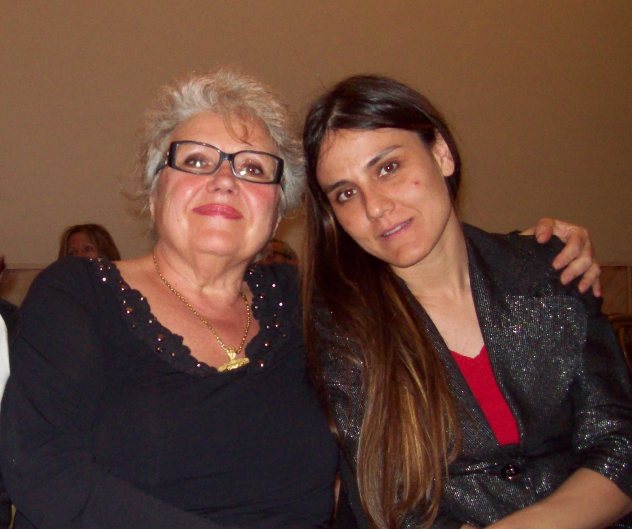 Con la poetessa Serena Maffia